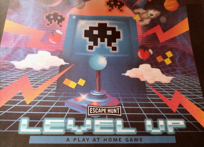 Level Up, Escape Hunt, play at home games, review, Weekend Notes, Alison Brinkworth