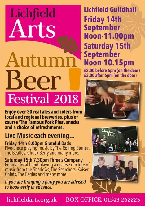 Lichfield Arts Autumn Beer Festival