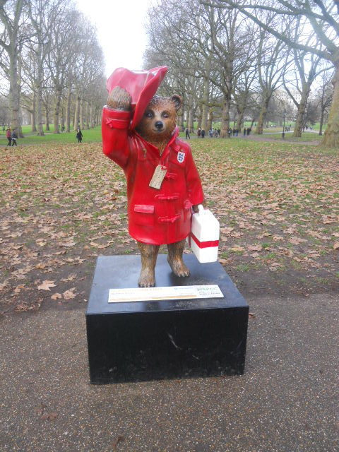 green park, paddington bear, paddington trail, david beckham