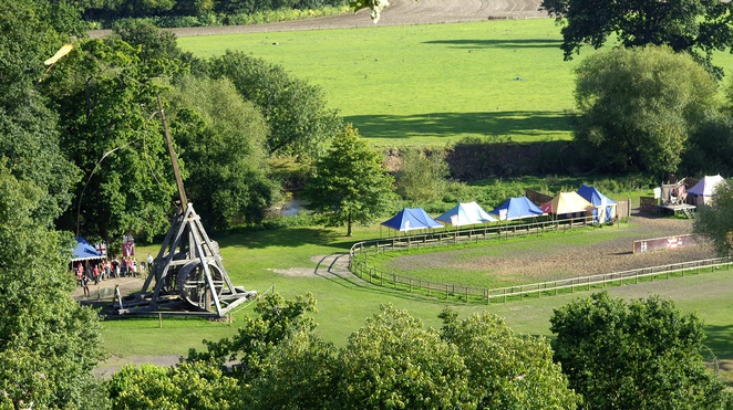 Warwick castle catapult, half term fun near Birmingham