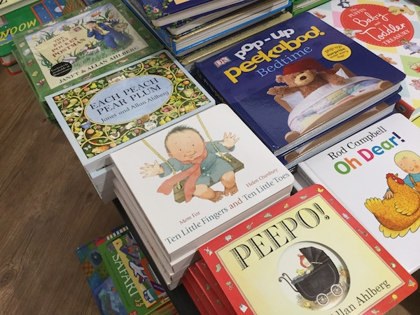 waterstones, wimbledon, each peach pear plum, picture books