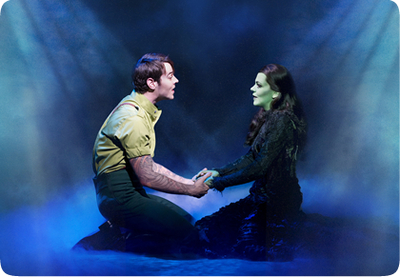 Matt Willis (Fiyero) and Rachel Tucker (Elphaba)