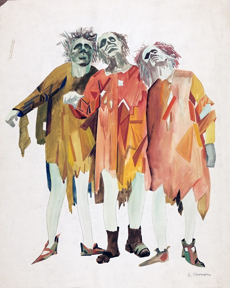 avant garde yiddish theatre, ben uri gallery, Three Men, 1920, Boris Aronson