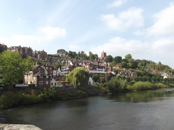 Bridgnorth High Town from the Low Town