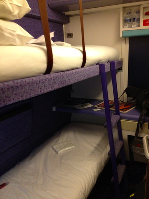 Caledonian Sleeper Train standard berth (c) JP Mundy