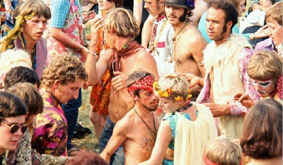 Hippies at the 1967 Hyde Park Love In