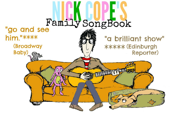 nick cope, nick cope's family song book, songs for kids, family theatre, children's theatre, musical theatre, music performances for kids