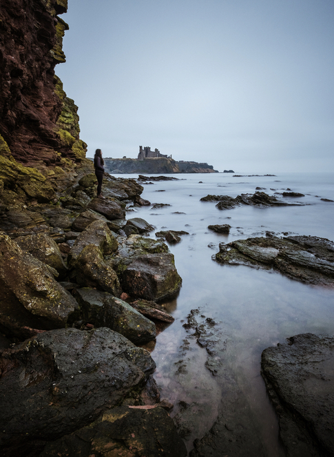 Tantallon Castle, East Lothian, Edinburgh, Scotland, Scottish Coast, Seacliff beach