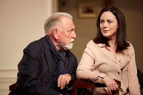 Kenneth Cranham and Amanda Drew in The Father