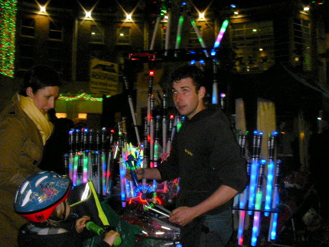 wimbledon winter wonderland, glow sticks