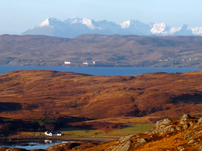 Cullins of Skye, from the Knoydart Peninsula (c) JP Mundy 2012