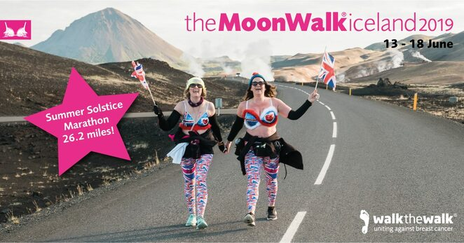 moonwalk, iceland, 2019, frundraiser, cancer, research, fun run, charity, volunteer, exercise, walk-the-walk, holiday package
