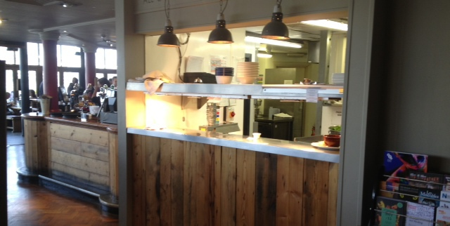 open kitchen, Foundry Arms, South Bank, Southwark, London