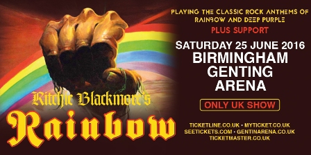 Ritchie Blackmore's Rainbow, Deep Purple, Genting Arena Birmingham