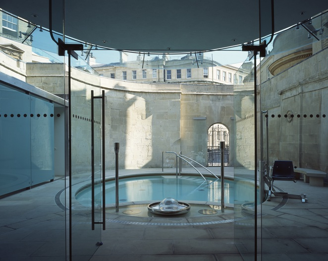 cross thermae bath spa body wrap relaxation luxury rooftop view