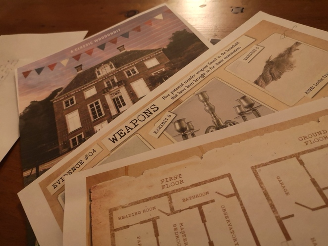 escape hunt, murder at the mansion, play at home games, murder mystery, alison brinkworth
