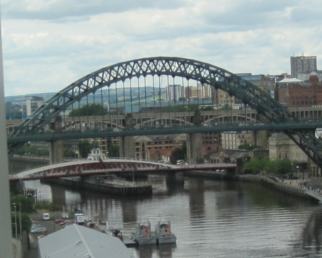 Looking Upriver towards Tyne Bridge