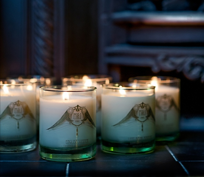M&J ethical luxury candle, Christmas gift ideas,