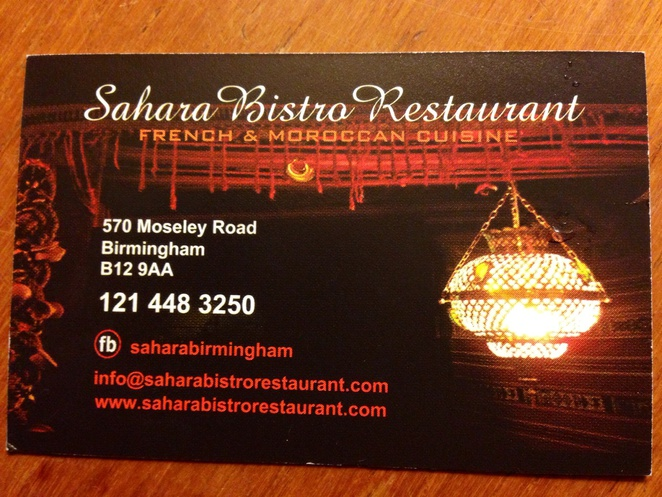 Sahara restaurant dinner b12 Moroccan cheap