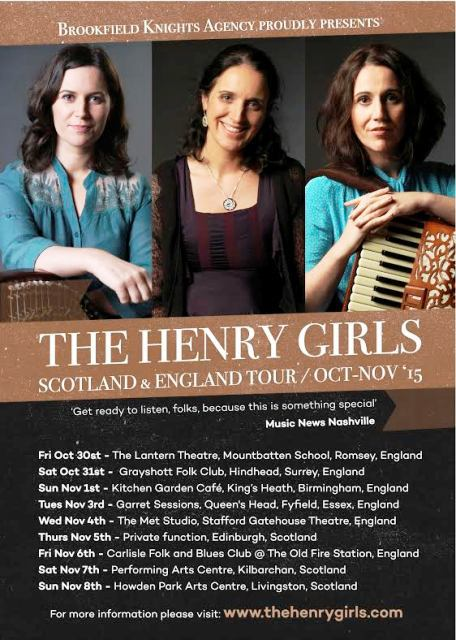 The Henry Girls, Louder Than Words, Kitchen Garden Cafe Kings Heath Birmingham, Irish Folk Music, Americana