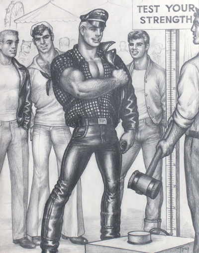 tom of finland, keep your timber limber, ica