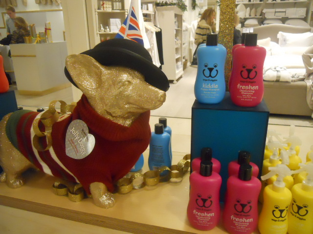 selfridges, christmas emporium, destination christmas, dog shampoo