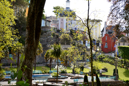 The central square in Portmeirion