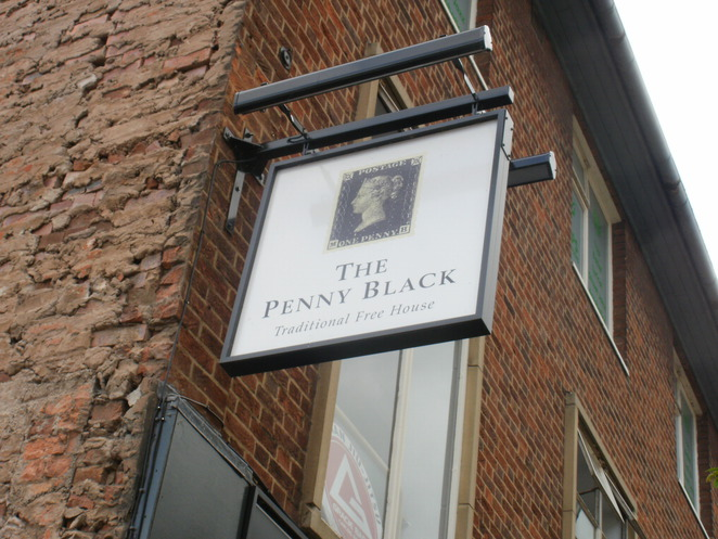 The Penny Black, postage stamp, pub, Tamworth, Yates's, Stonegate