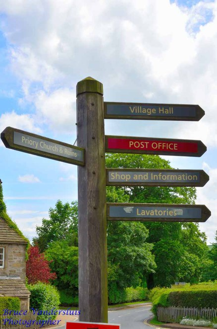Bolton abbey estate, skipton, north yorkshire, england, united kingdom, bruce vandersluis images, ghosts, parklands, sign post