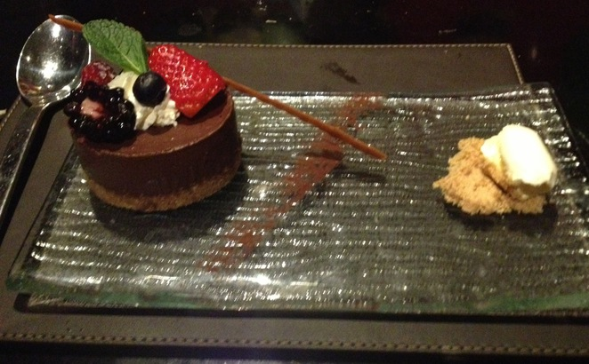 Chocolate cheesecake, Steak and Lobster, Bloomsbury