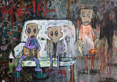Quitte Le Pouvoir: New Paintings By Aboudia, jack bell gallery