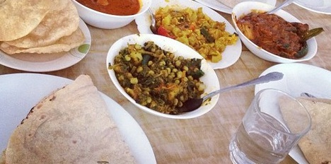 sag aloo, Indian cuisine, Isaacs, rice