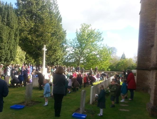 anzac day, sutton veny, england, wiltshire, children, church, memorial