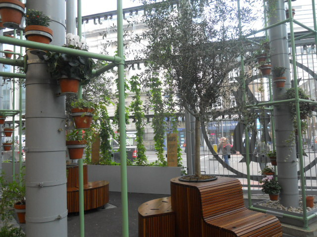 borough market, seating, eating area, plants