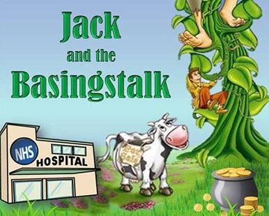 jack and the basingstalk, jack and the beanstalk, basingstoke hospital, theatre, christmas pantomime