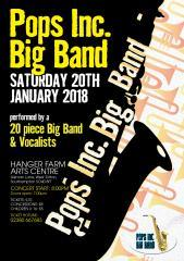 pops incorporated, big band, live music, pops orchestra, hanger farm arts centre