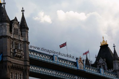 Tower Bridge and Flags