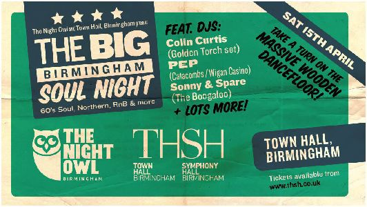 Big Birmingham Soul Night, Colin Curtis, Birmingham Town Hall, The Night Owl, Northern Soul