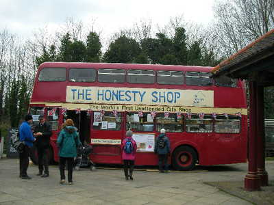honesty bus, charity shop
