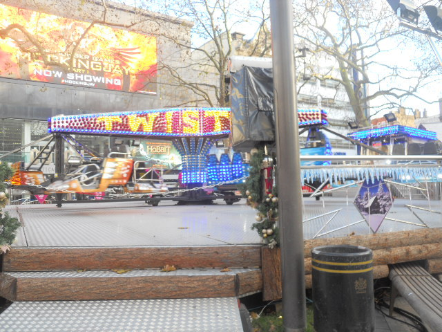 leicester square, christmas, funfair