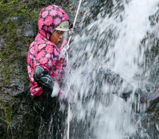 abseiling, marie curie