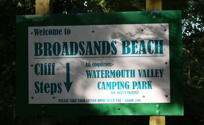 Broadsands Beach, sign, beach, devon