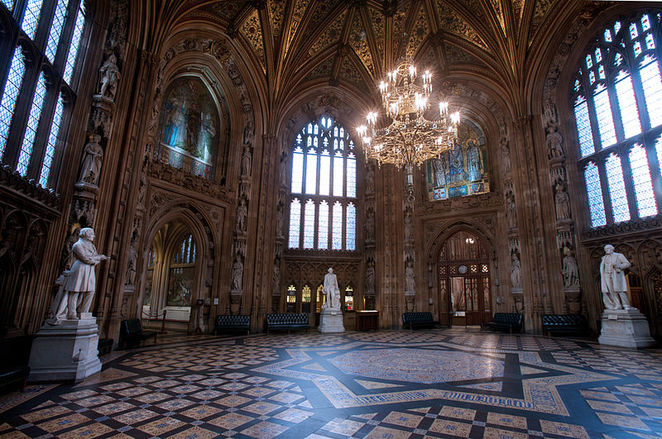 houses of parliament, westminster hall, central lobby