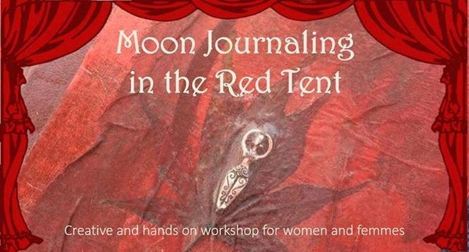 moon journalling, red tent, womens groups, empowerment, the art house southampton