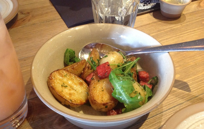 Scran and Scallie, Tom Kitchin, Stockbridge, edinburgh, gastro pub, chorizo, potatoes