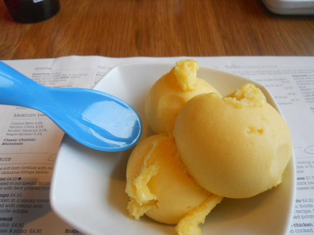 wahaca, wimbledon, mexican market eating, passion fruit sorbet