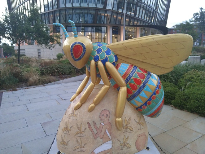 Bee in the city, art, exhibition, sculptures, wild in art, bees, Manchester, city, trail, map