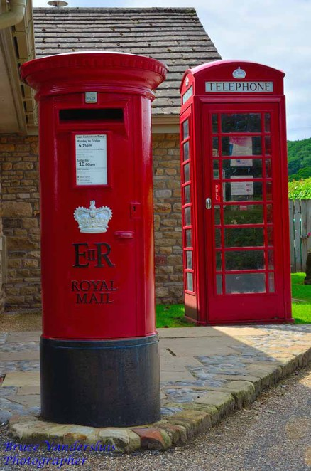 Bolton abbey estate, skipton, north yorkshire, england, united kingdom, bruce vandersluis images, ghosts, parklands, post box, tardis