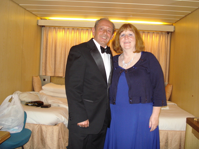 Formal photo shoot onboard Thomson Celebration