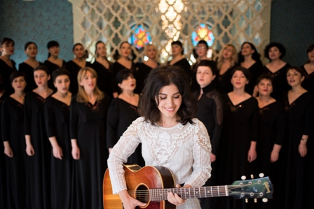 Katie Melua, Gori Women's Choir, In Winter, Birmingham Symphony Hall, Georgia